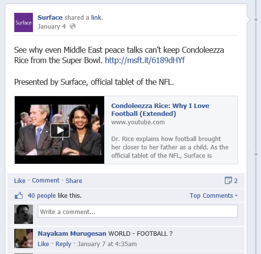 Clips from Surface Facebook